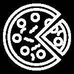 Neapolis Pizzeria icon 600px White